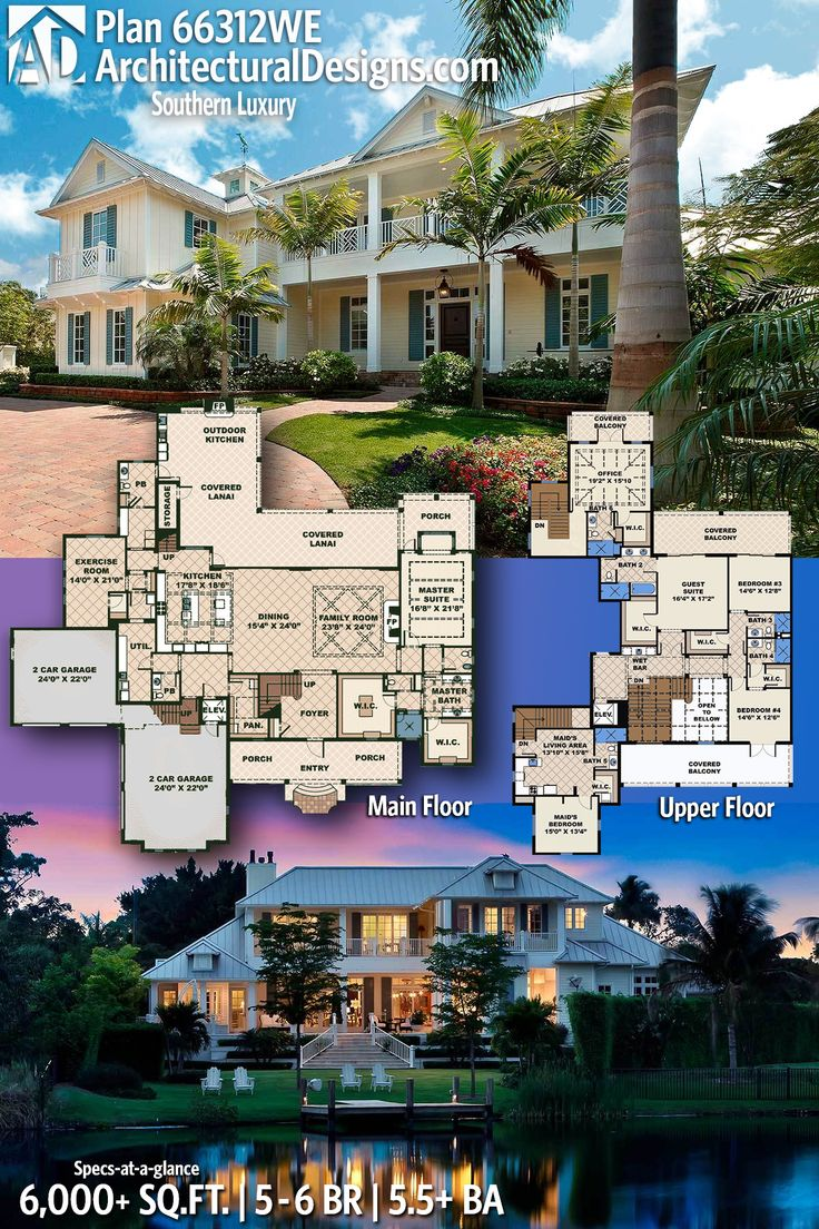 Architectural Designs Luxurious House Plan 66312WE