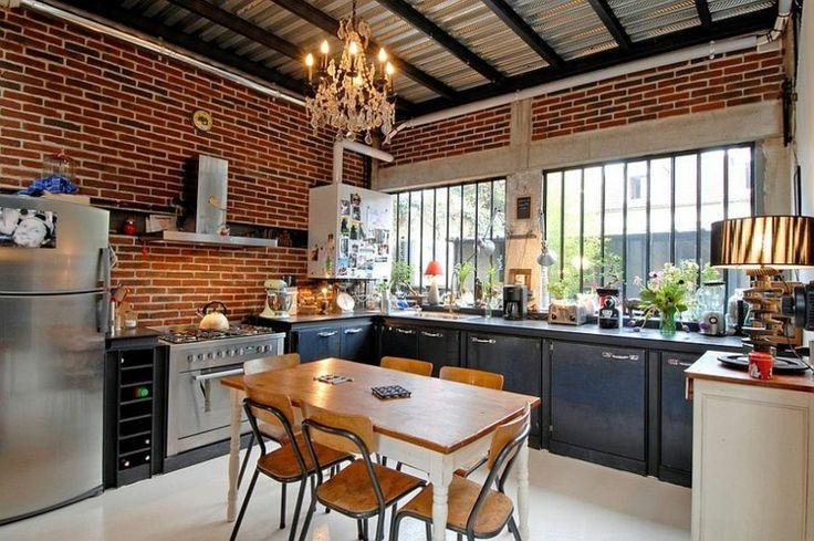 Cocina urbana con dise o industrial muy bonita cocina for Cocina urbana canaria