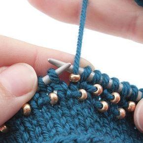 Você gosta de tricotar? Aqui está uma crônica sobre a integração de pérolas em ...