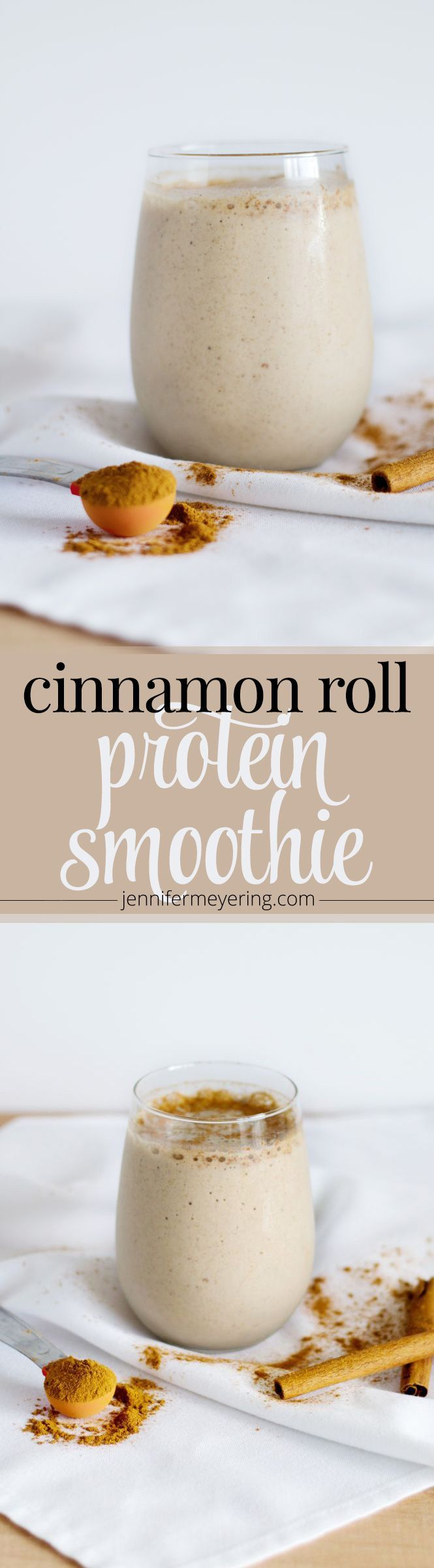 "Cinnamon Roll Protein Smoothie | <a href="""" rel=""nofollow"" target=""_blank""></a>"