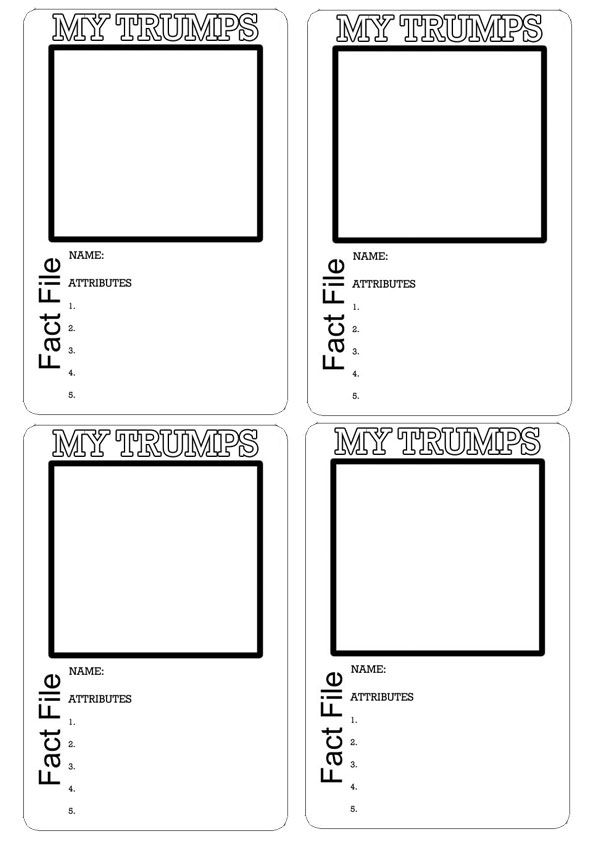 Pin Blank Top Trumps Template This Is Your Indexhtml Page on Pinterest