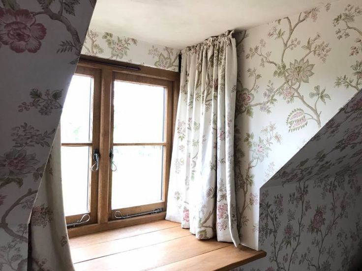 Curtains On Dormer Rods By Fullerton Furnishings Shaped Windows Pinterest Shaped Windows