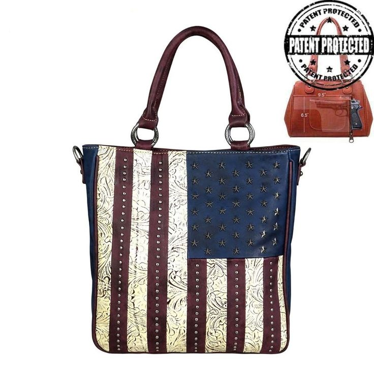 Price dropped on Montana West American Pride Concealed Handgun Handbag Tote With Crossbody Strap #MontanaWest #ShoulderBag