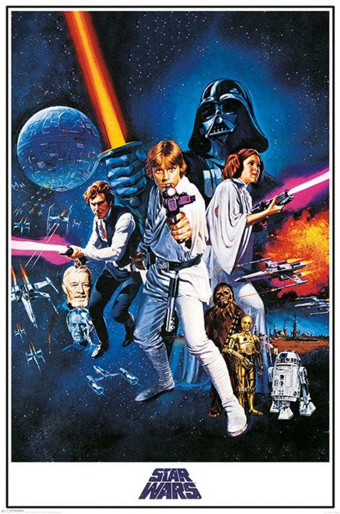 Star Wars - A New Hope One Sheet - Official Poster. Official Merchandise. Size: 61cm x 91.5cm. FREE SHIPPING