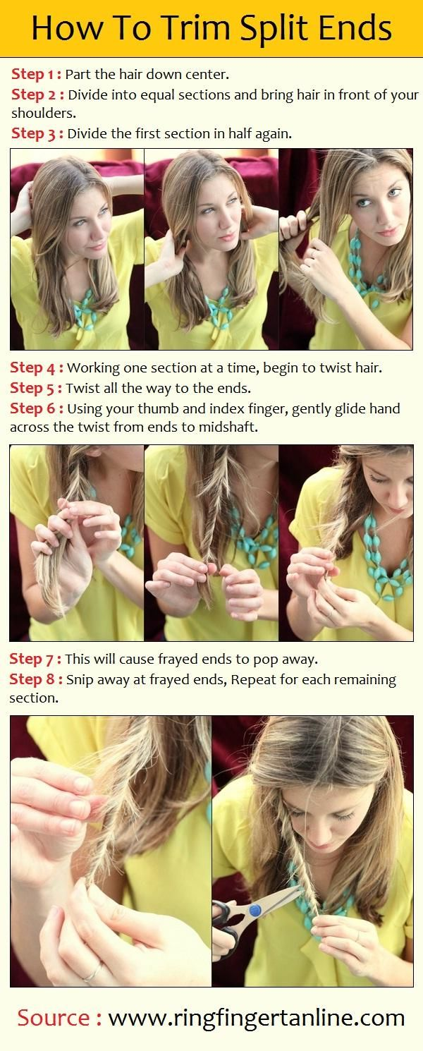 How To Trim Split Ends! Wow! This is incredibly helpful! Def gonna be trying this tomorrow, since I have really bad split ends