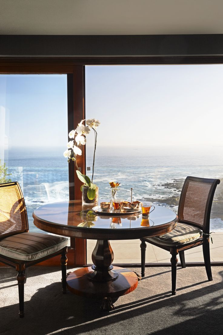 The view overlooking the Atlantic Ocean from one of the suites at Ellerman House in Cape Town