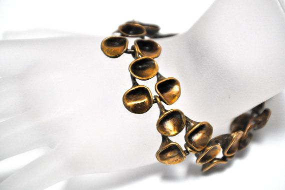 Hannu Ikonen Finland Bronze Renmoosblüte Bracelet от eveMODERN, $138.00