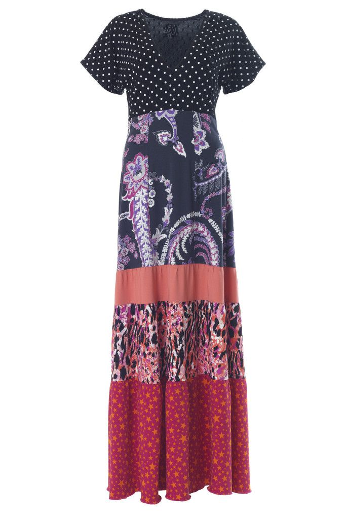 Weiz Gypsy maxi dress in pink mix DKK 1000,-