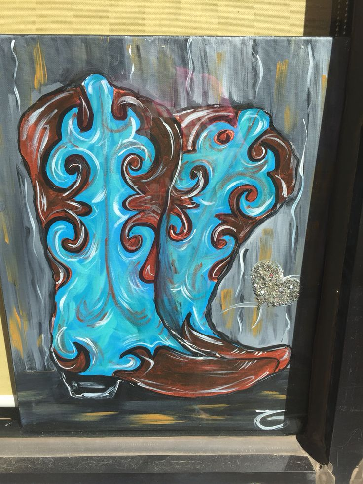 17 Best Images About Cowboy Boot Painting On Pinterest