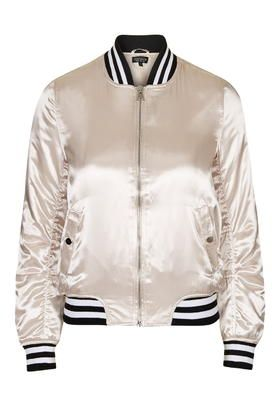 $115 Sateen MA1 Bomber Jacket
