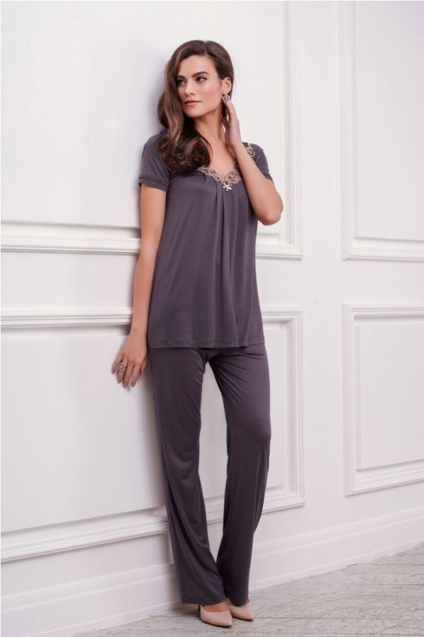 Купить оптом 51517 пижама женская - winter 2016-2017 2xl (52) серо-коричневый 000 (51517) в Москве по доступной цене в интернет-магазине