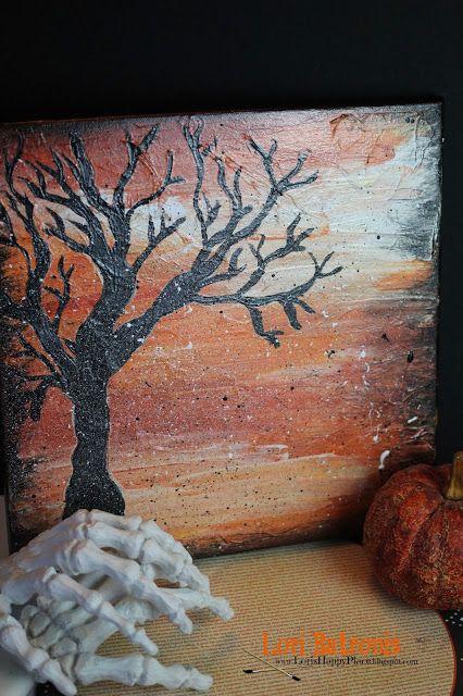 Lori's Happy Place: Boo!! Halloween Deco Arts Canvas