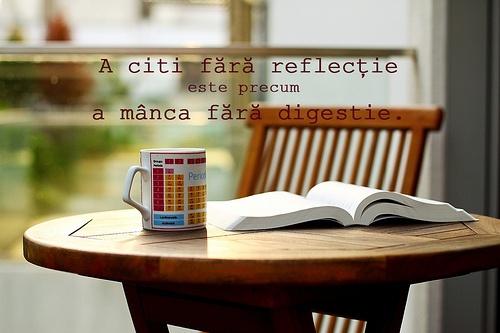 A citi fără reflecție este precum a mânca fără digestie. - Edmund Burke