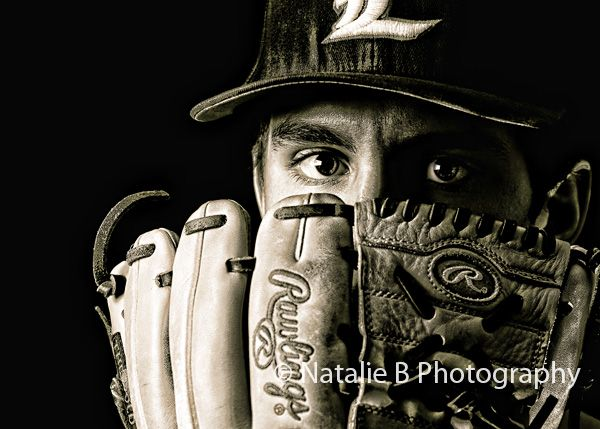 What an incredible senior portrait for a baseball player