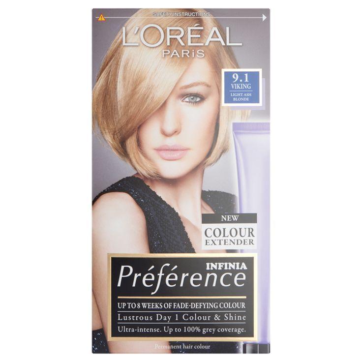Loreal Paris Preference Infinia 9 1 Viking Light Ash Blonde Hair