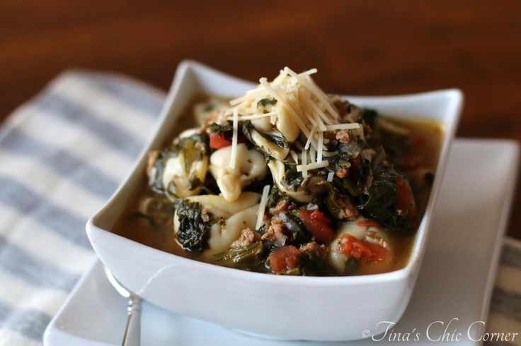 Cheese Tortellini Soup With Turkey Italian Sausage And Kale Recipes ...
