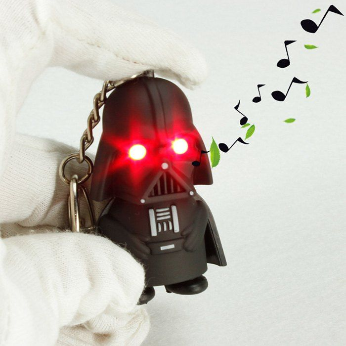 Key Chain Star Wars Figure Black Knight Darth Vader Key Ring with Red Light / Sound... £1.43