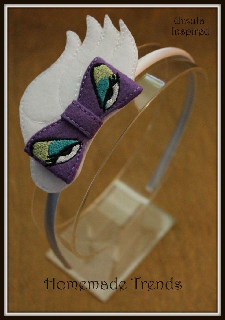 Sea Witch Headband-Villain Hair Accessory-Villain 3D Felt Bow-Sea Witch Accessory-Under the Sea Villain-Octopus Character Headband - pinned by pin4etsy.com