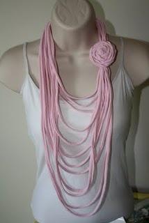 One more t-shirt necklace idea