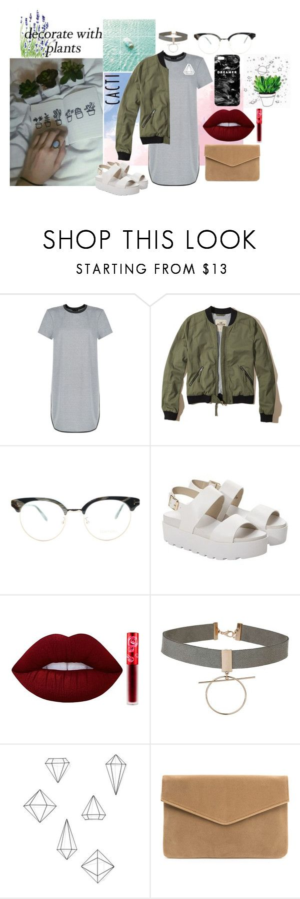 """planters"" by heidehh ❤ liked on Polyvore featuring New Look, Hollister Co., Tom Ford, Windsor Smith, Lime Crime, Miss Selfridge, Umbra, Mr. Gugu & Miss Go, plants and planters"