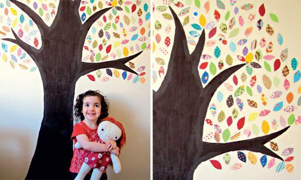 Artesanato: faça adesivos de parede usando sobras de tecido