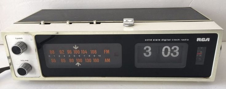 VTG Vintage 1970s RCA Flip Clock Solid State Digital Clock Radio -  WATCH VIDEO  | eBay