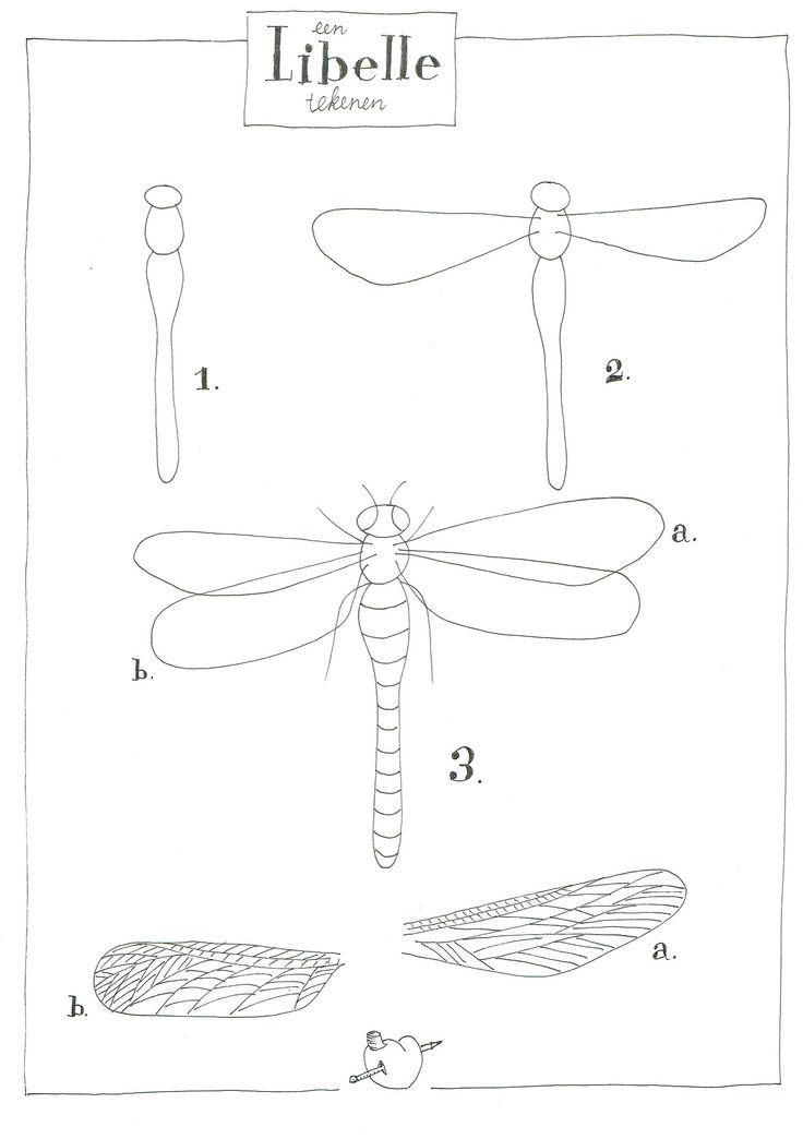 libelle tekenen margot verhoeven