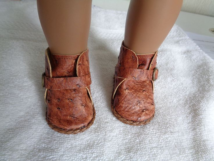 Sedona Browns-Slip on Ankle Boost--for 18 Inch dolls-- Shown on my american girl doll by lillysdollclothes on Etsy