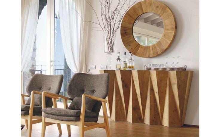 Una entrada única, decorar el salón con un estilo industrial o rústico contemporáneo. Muebles únicos de madera.