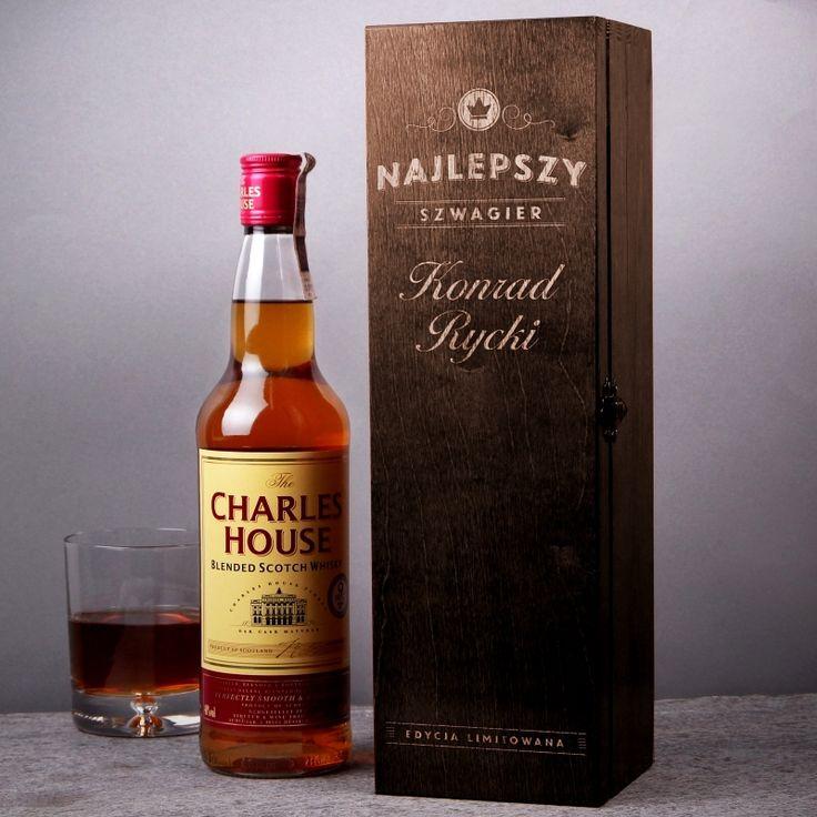 Skrzynka personalizowana na whisky SZWAGIER