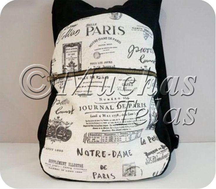 Patrones y explicaciones para confeccionar una mochila - Blog de Muchas Telas
