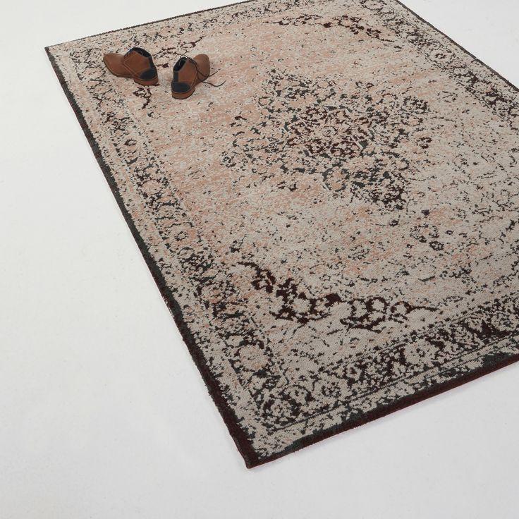 Vloerkleed Tabriz roze/zalm 160x230 cm