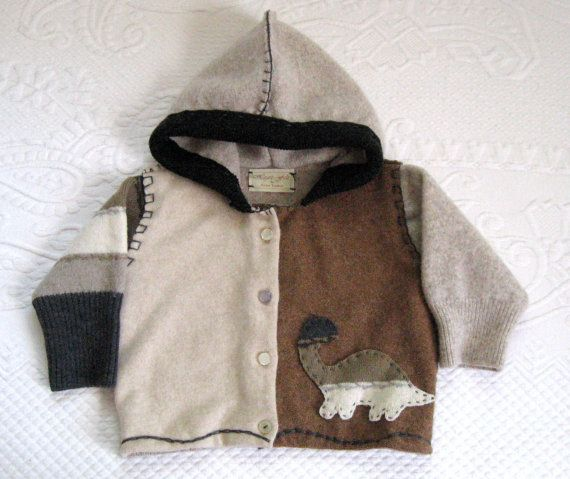 HEINER  Baby Hoodie made from Recycled Sweaters by heartfeltbaby, $70.00