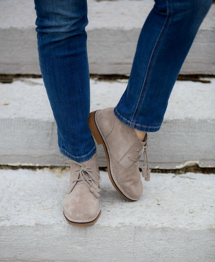 These booties have a worry-free suede protective coating already on them. That is so nice because you don't have to spray them with a protective spray.