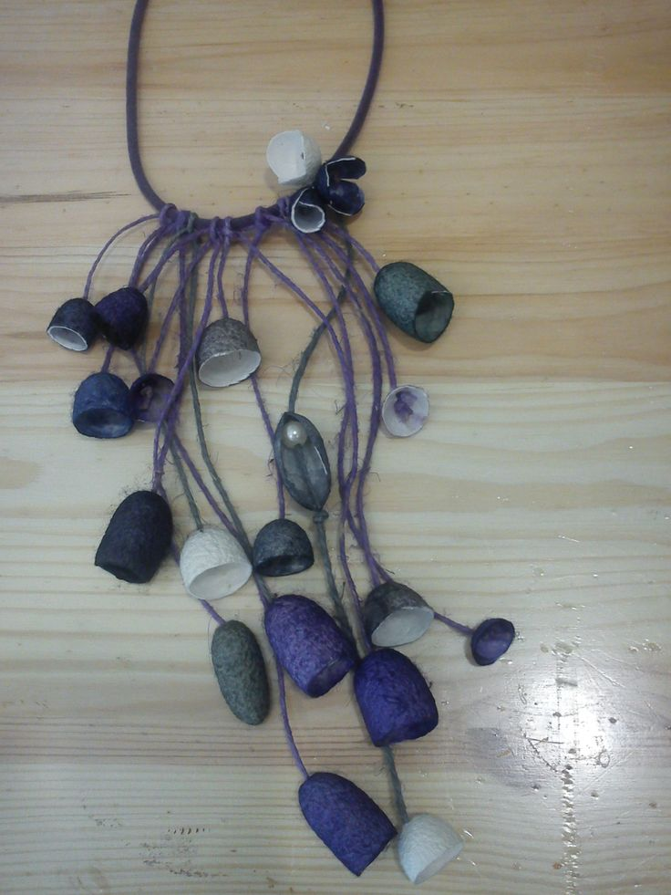 silk cocoons jewelry, necklace No23