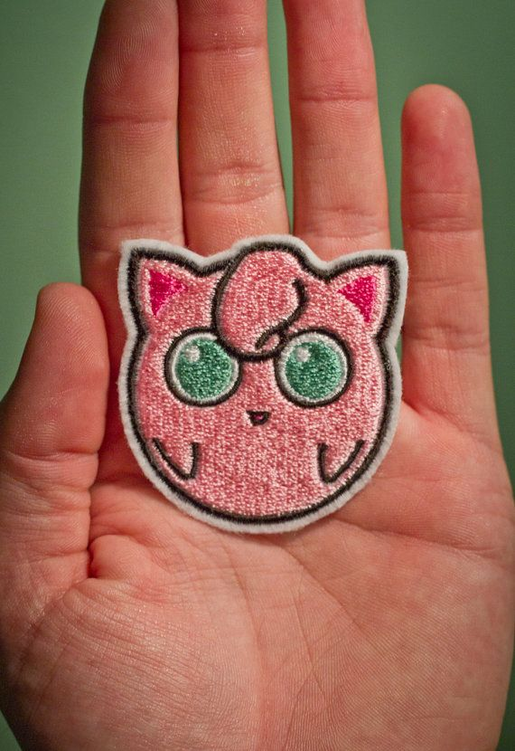 Jiggly Puff  Embroidered Ironon Pokemon Patch by OKsmalls on Etsy, $5.00