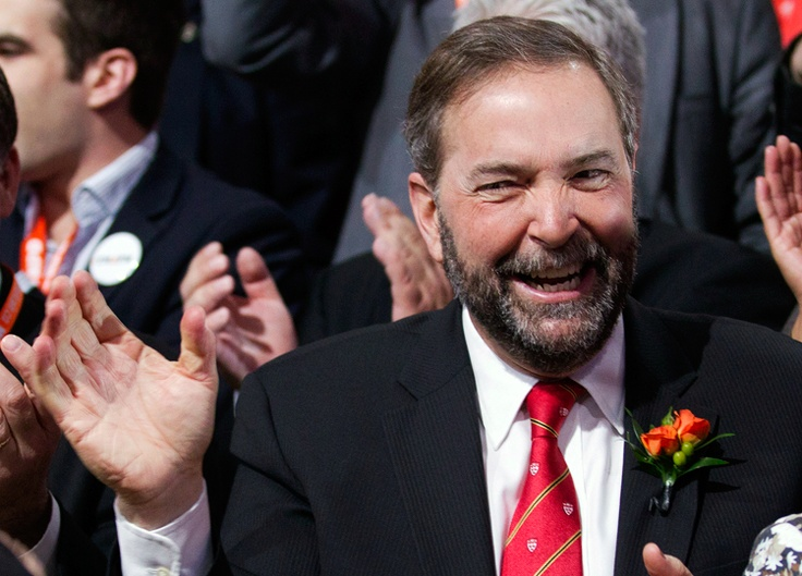 Thomas Mulcair takes first ballot in NDP leadership contest