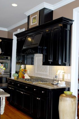 Cabinets Black Cabinets And Cheap Kitchen Makeover On