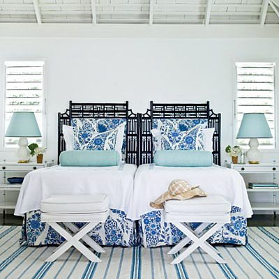 Blue & White Beach Bedroom
