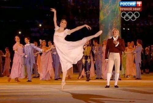 Svetlana Zakharova at Olympic Games opening ceremony