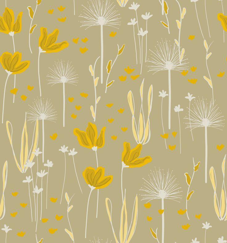 Estampa Azaleia by Tati Barthmann para Promex Decor - projeto do livro Bloom Fé Brasil
