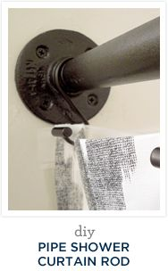 plumbers pipe shower curtain rod