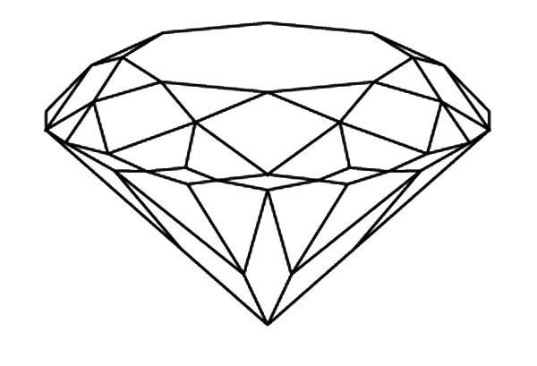 Diamond Shape Brilliant Diamond Shape Coloring Pages Diamond Drawing Shape Coloring Pages Diamond Shapes