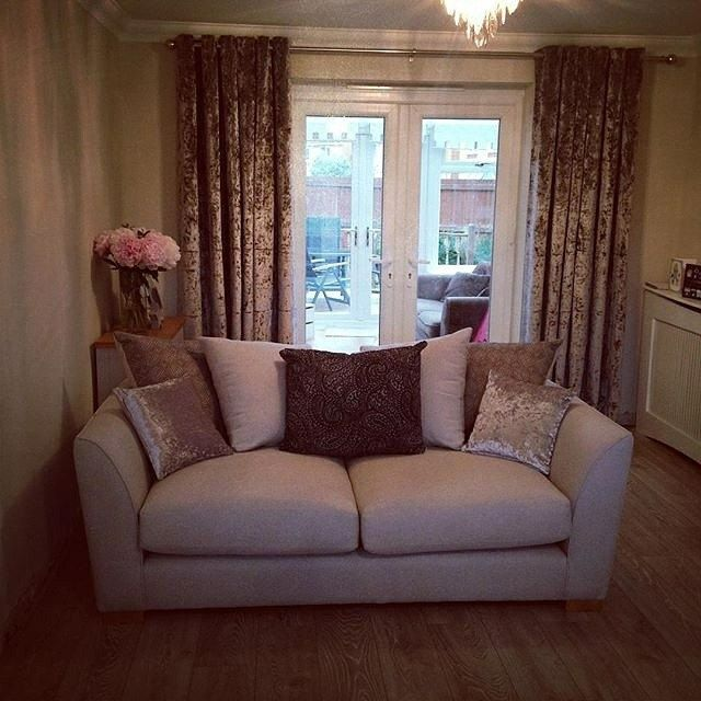 Get your Home In trend with some New Gold Tricot Velvet Curtains! The New in :)  -  www.lushescurtains.com