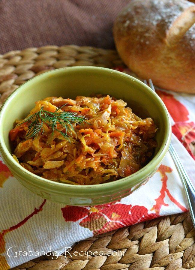 Chicken Braised Cabbage Recipe- Russian Tushonaya Kapusta