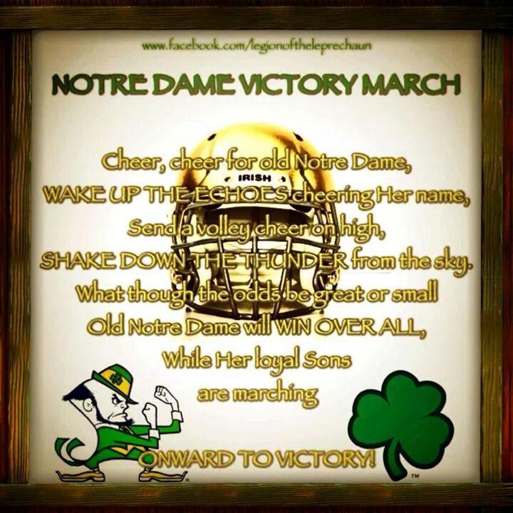 Notre Dame Victory March via Legion of the Leprechaun