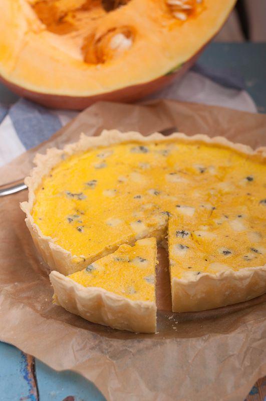 Pumpkin and Blue Cheese Quiche