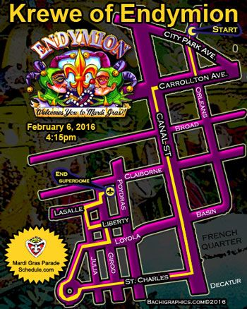 2016 Krewe of Endymion New Orleans Mardi Gras Parade Schedule 2016