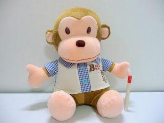 boneka monyet baby milo.boneka binatang lucu