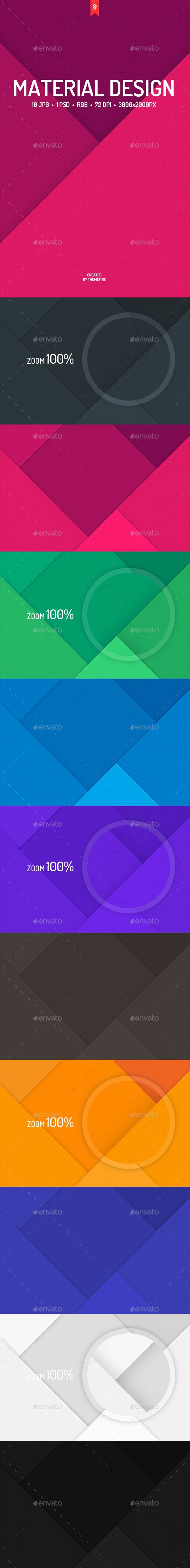 10 Material Design Backgrounds. Download here: http://graphicriver.net/item/10-material-design-backgrounds/14204717?ref=ksioks